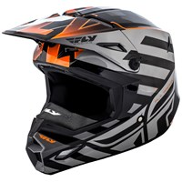 Elite Interlace Cold Weather Helmet Orange/Grey/Black