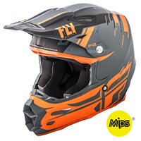 F2 Carbon Forge Helmet Matte Charcoal/Orange/Grey