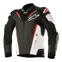 Alpinestars Atem Leather Jacket v3 Black/White/Fluo Red