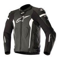 Alpinestars Missile Leather Jacket Black/White