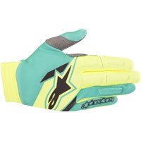 Aviator Gloves Yellow/Teal