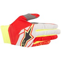 Aviator Gloves Red/White/Yellow