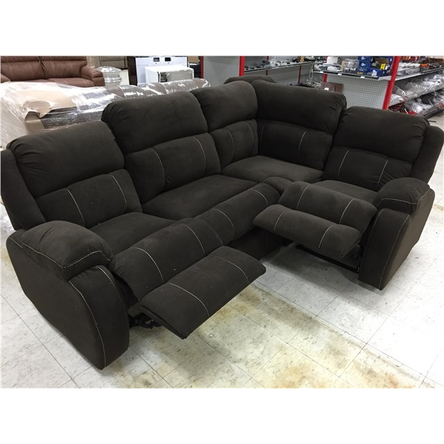 Cloth J Lounge Theatre Seating With Two Recliners and Storage
