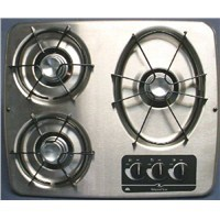 3 Burner Drop-In Cooktop (Stainless Steel)
