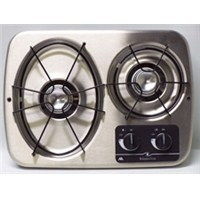 2 Burner Drop-in Cooktop (Stainless Steel)