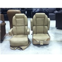 Pair Of Ultra Leather Captains Chairs