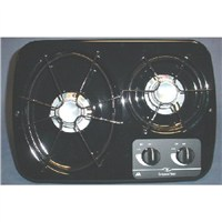 2 Burner Drop-In Cooktop (Black)