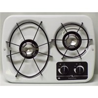 2 Burner Drop-In Cooktop (White)