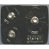 3 Burner Drop-In Cooktop (Black)