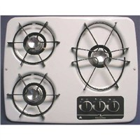 3 Burner Drop-In Cooktop (White)