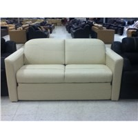 "72"" Ultra Leather Sleeper Sofa with Air Bed"