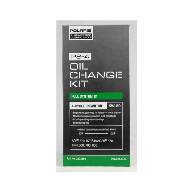 POLARIS OIL CHANGE KIT -Fits Single 570, Twin 600, 700, 800cc engines