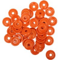 "WOODY'S Orange Round DIGGER® Aluminum Support Plates (For 5/16"" Studs)"