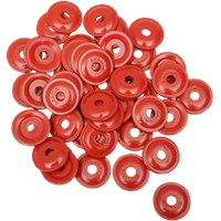 WOODY'S Red Round DIGGER® Aluminum Support Plates