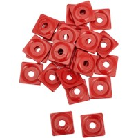 "WOODY's Red Square DIGGER® Aluminum Support Plates (For 5/16"" Studs)"