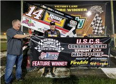 Smoke earns Sunshine State Sprint Car Shootout opener at Bubba Raceway Park
