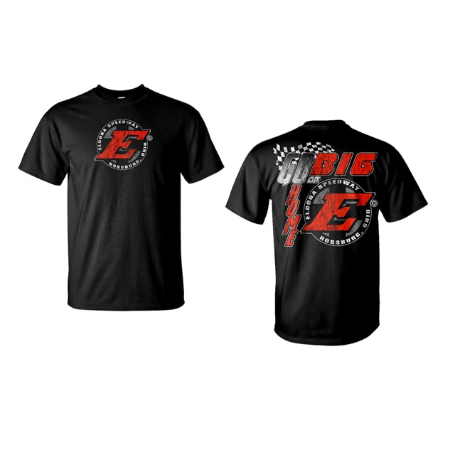 Go Big E Tee-BLACK