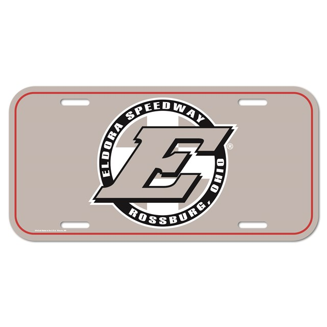 Big E Acrylic Plate-GRAY