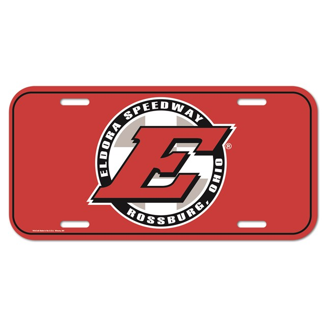 Big E Acrylic Plate-RED