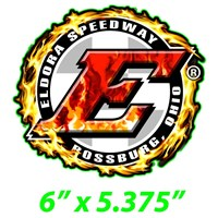 Big E Flames Decal
