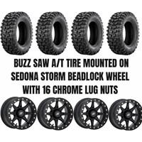 Sedona Storm Beadlock Black Wheel / Sedona Buzz Saw A/T Tire Kit