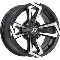 Riot Black Machined Wheel