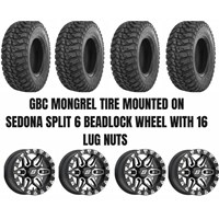 Sedona Split 6 Beadlock Wheel / GBC Mongrel Tire Kit