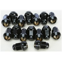 AWC 10MMX1.25 TAPERED LUG NUTS BLACK 60' 14MM HEAD 16/PK