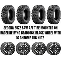 Raceline Ryno Beadlock Wheel / Sedona Buzz Saw A/T Tire Kit