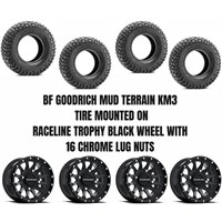 Raceline Trophy Black Wheel / BF Goodrich KM3 Tire Kit