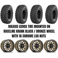 Raceline Krank Black/Bronze Wheel / Maxxis Ceros Tire Kit
