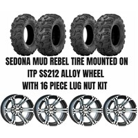ITP SS212 Alloy Wheel / Sedona Mud Rebel Tire Kit